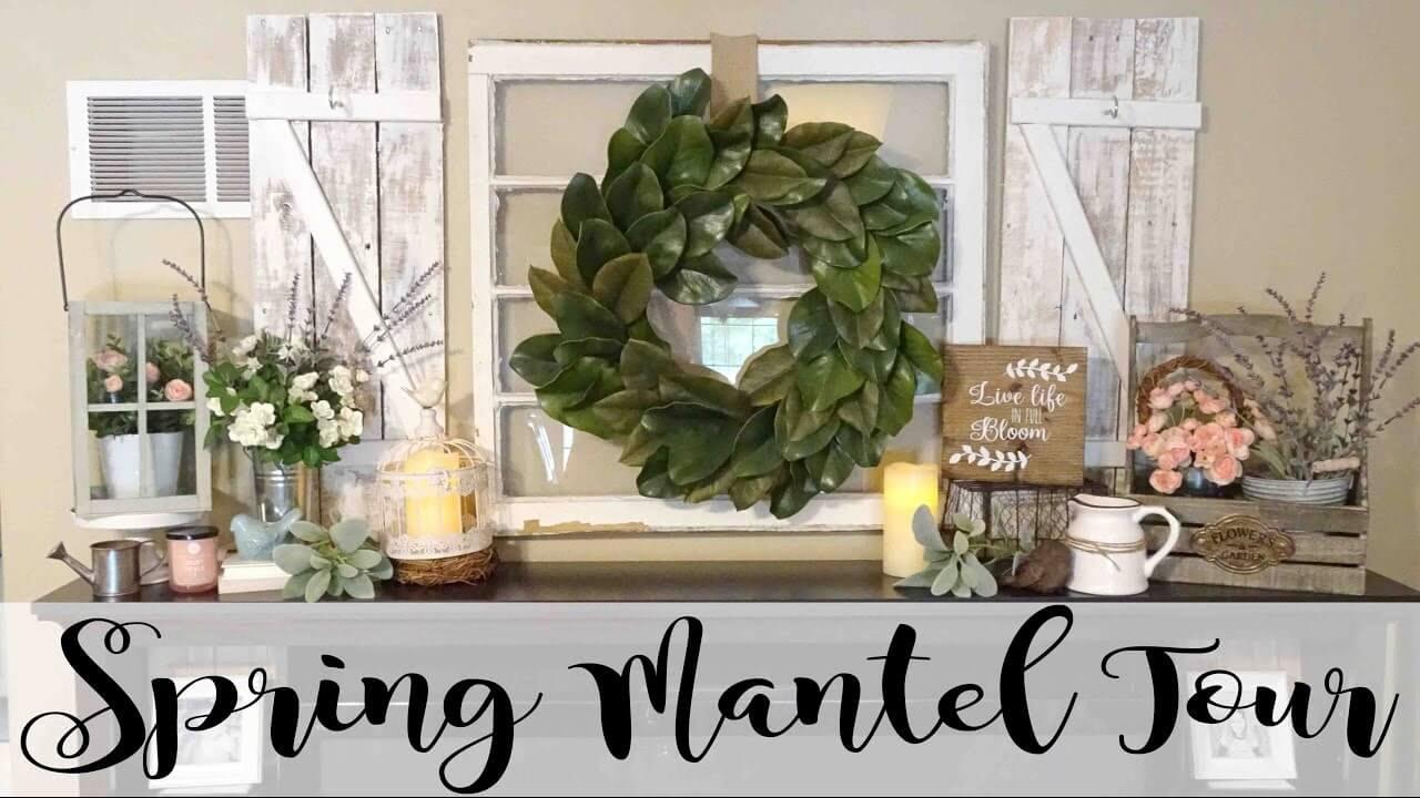 Magnolia Leaf Wreath and Succulent Arrangements