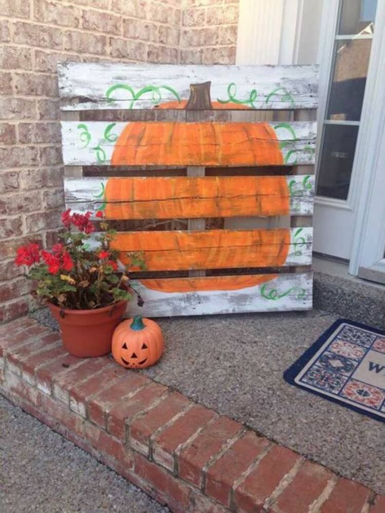 DIY Pumpkin Wood Pallet Art