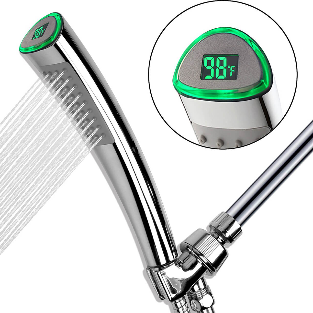 YOO.MEE Hand Held Shower Head With LCD Temperature Display