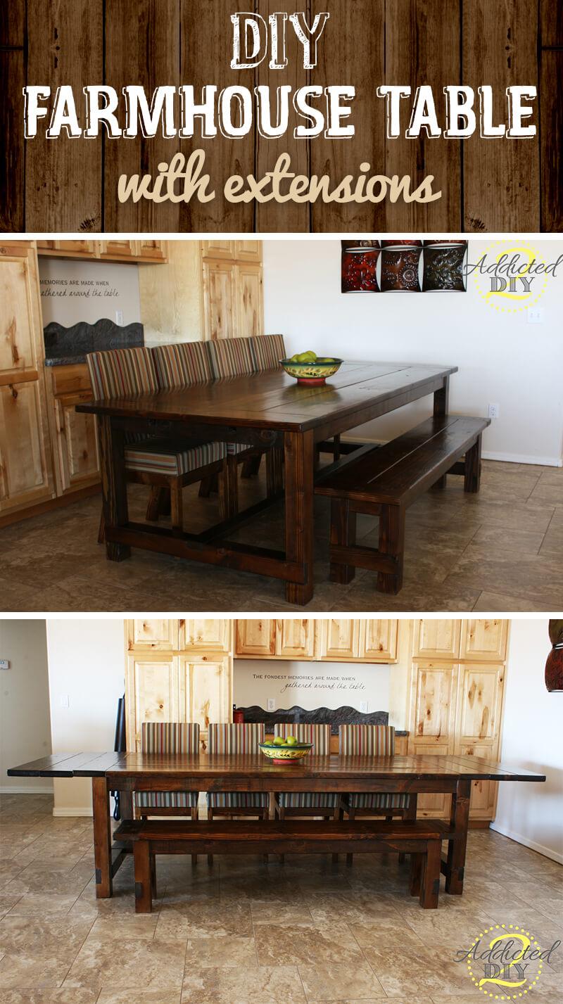Amazing Expandable Farmhouse Table Project