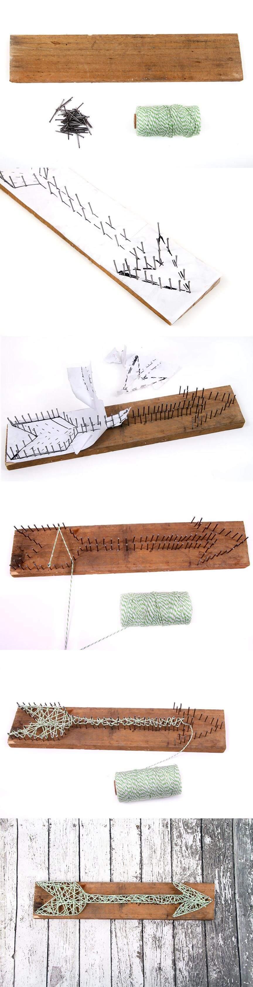 DIY Boho Arrow String Art