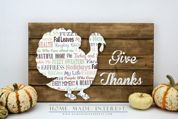 Wooden Pallet Printed Turkey Cut Out