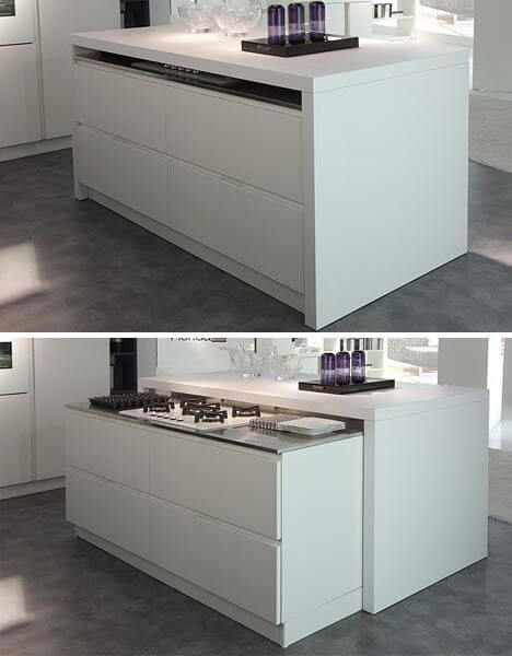 Amazing Roll Away Kitchen Range Top Island