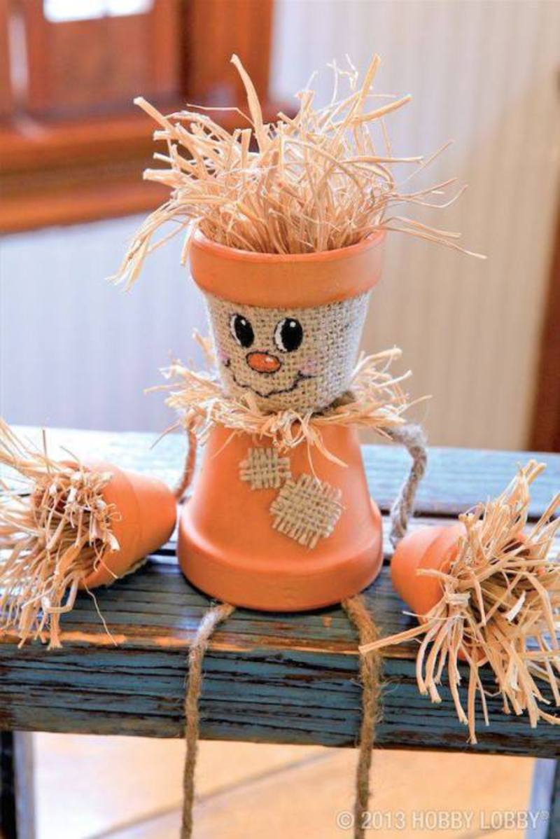 A DIY Scarecrow is Cute as Can be