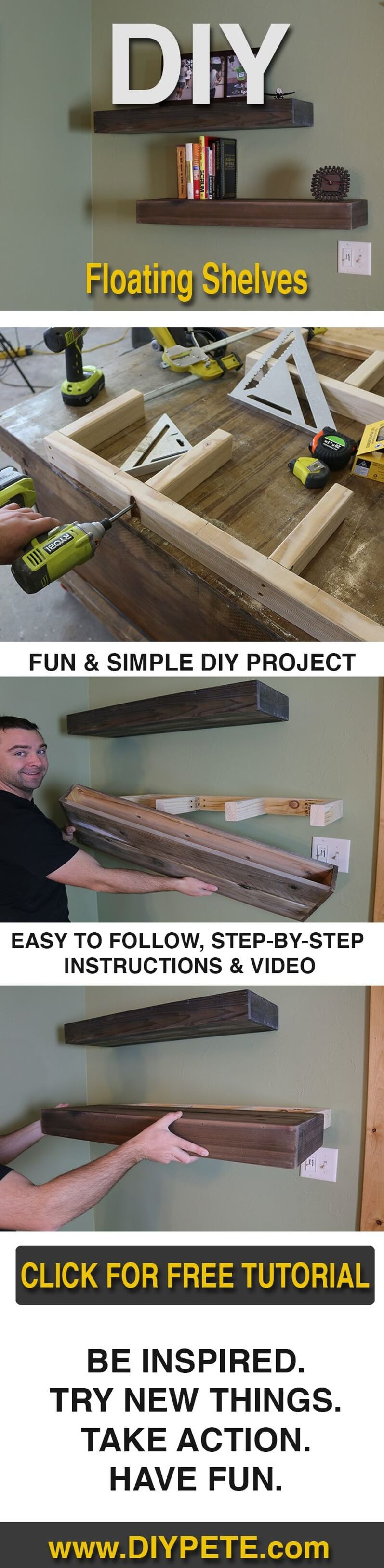 Fun and Simple Slide-In Shelving