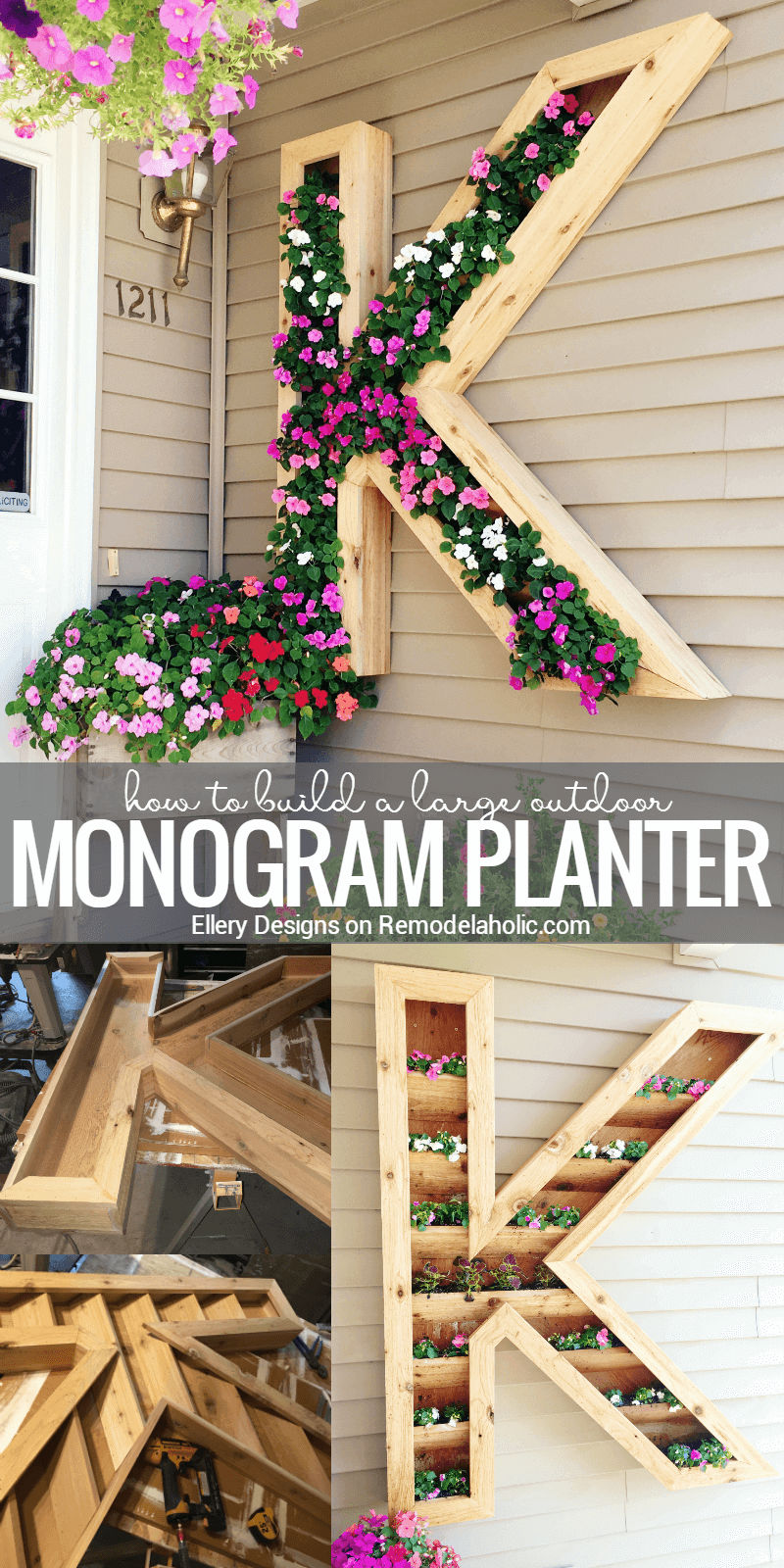 Monogram Wall Planter Picture Tutorial