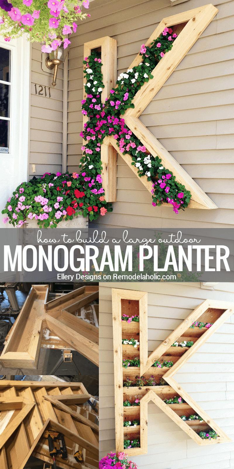 Monogram Wall Planter Picture Tutorial