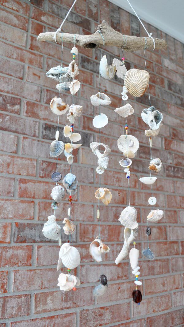 A Seashell Wind Chime for Your Porch