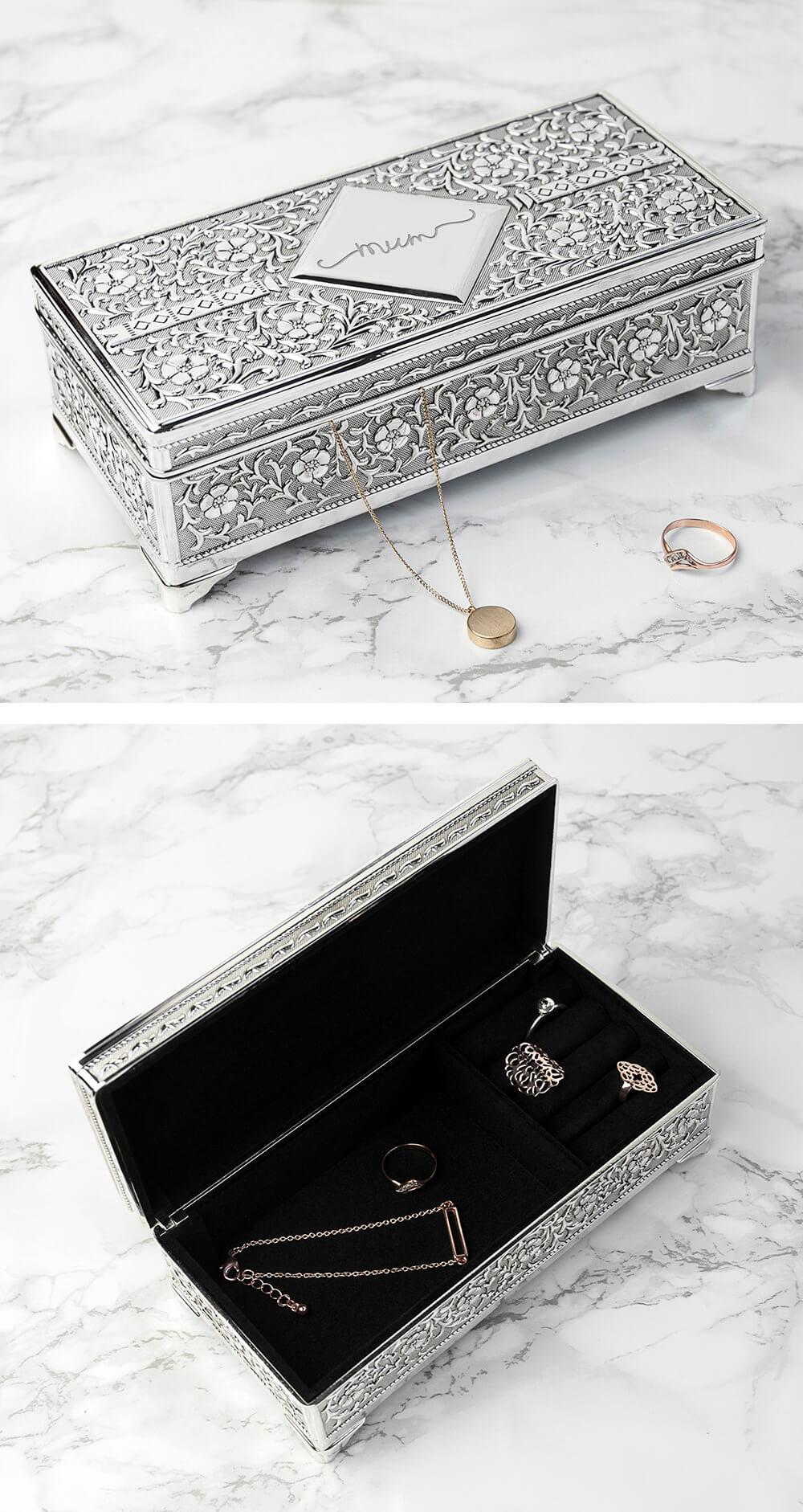 Vintage Trinket and Ring Box Arranger