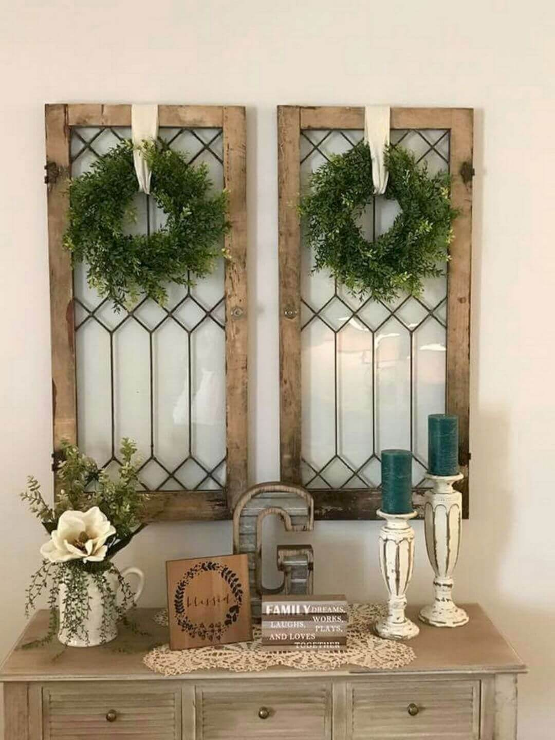 Twice the Impact with Matching Antique Windows