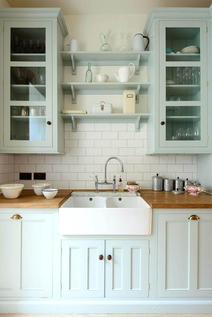 Mint Classic Style Kitchen Cabinets