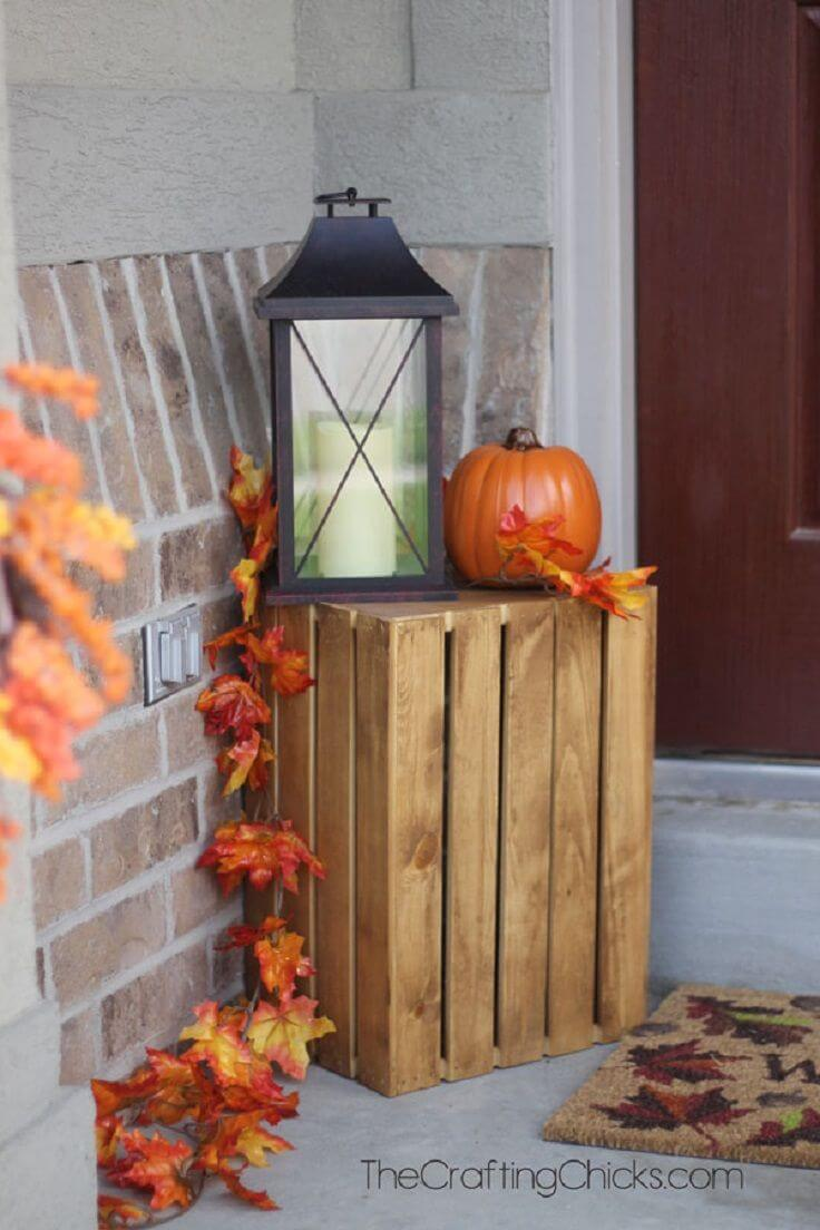 Apple Crate Fall Porch Display
