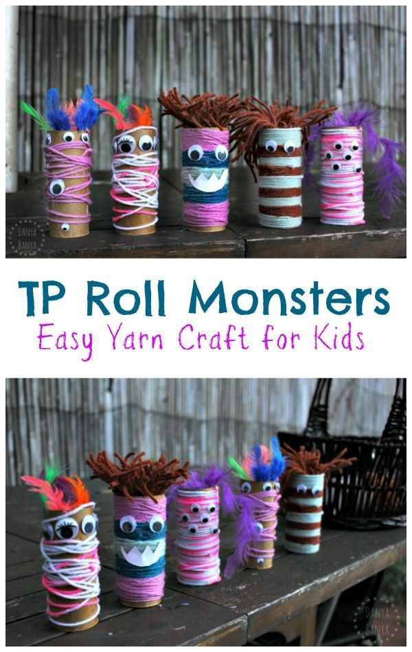Googly-eyed Toilet-paper Tube Monsters