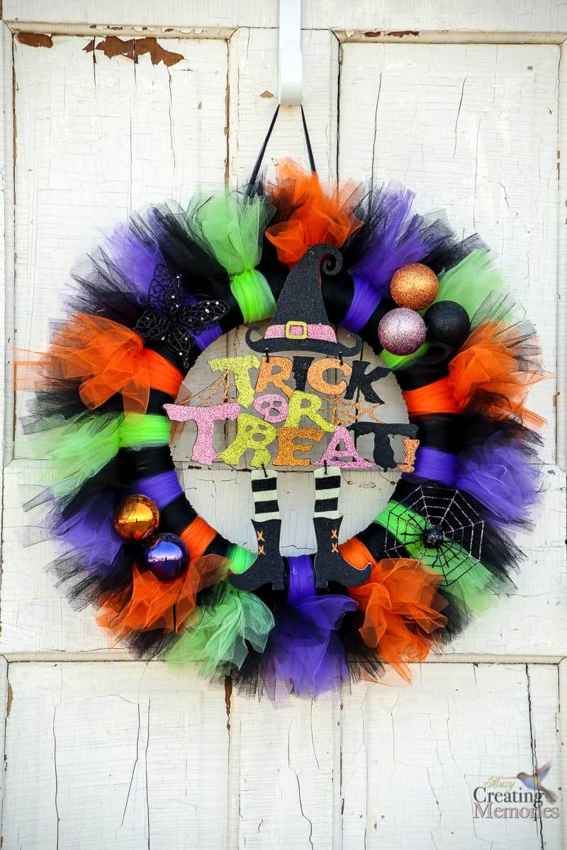 Bright And Whimsical Halloween Wreath