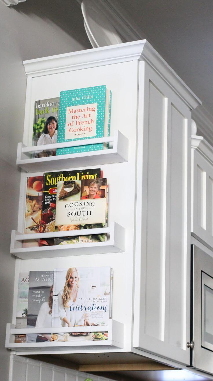 Cookbook Cabinet End Shelves