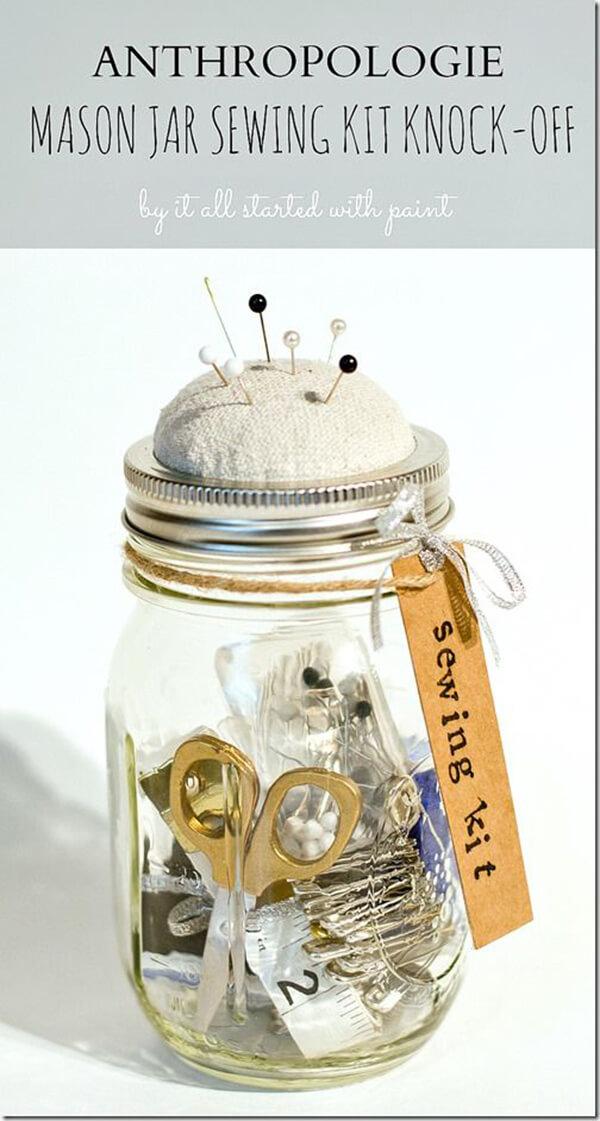 Amazing Sewing Kit Storage Idea
