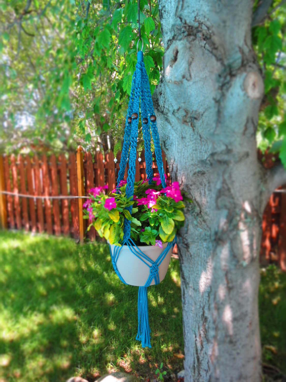 Retro Macrame Hanging Flower Pot