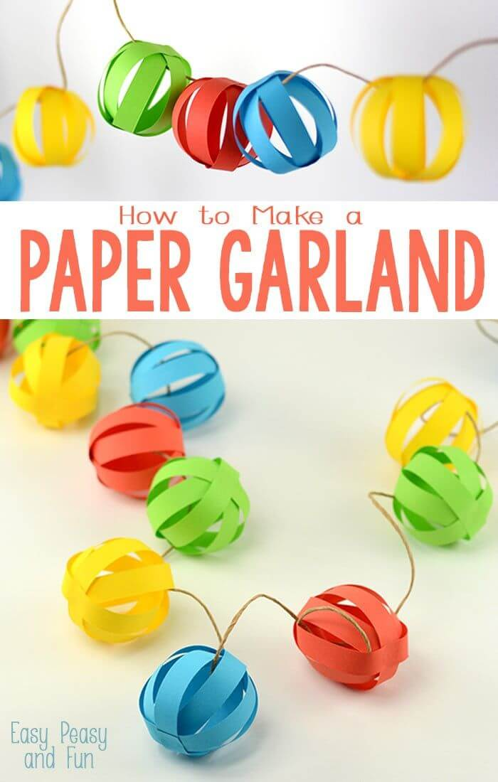 Easy DIY Paper Ball Garland
