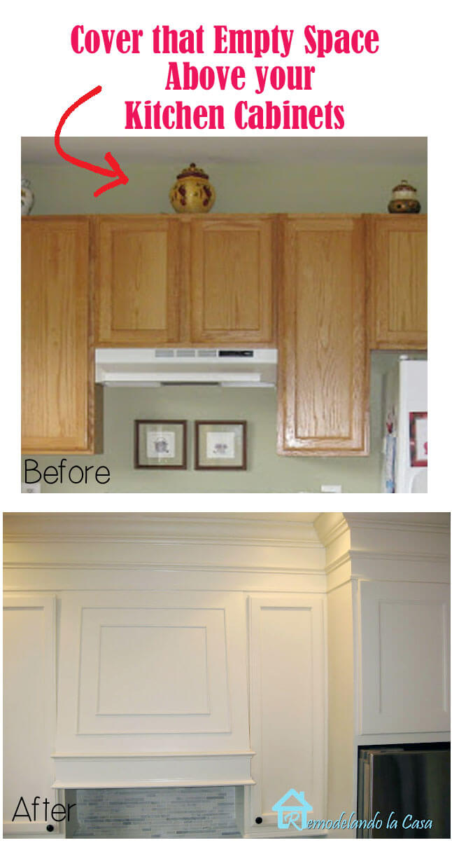 Fill Cabinet Gaps with Faux Molding