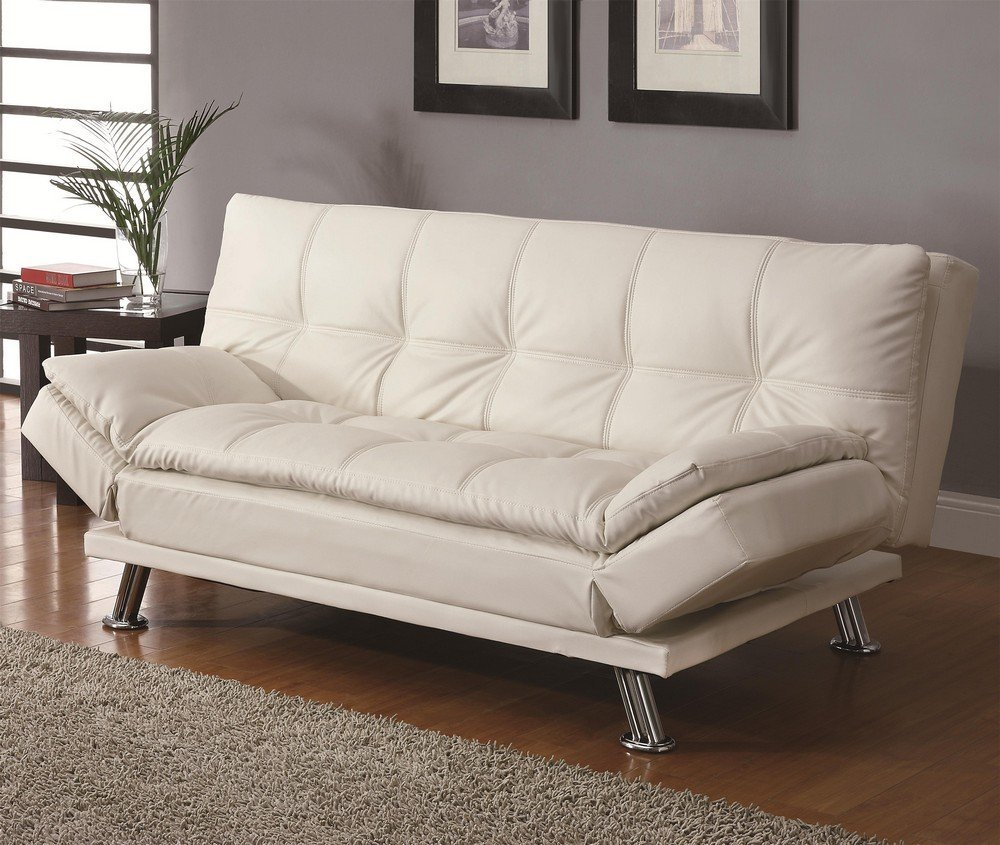 Sleeper Sofa - Coaster Sofa Bed in White