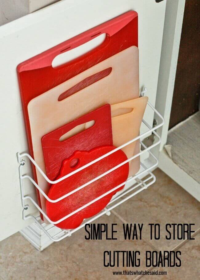 Out of Sight Cutting Board Storage