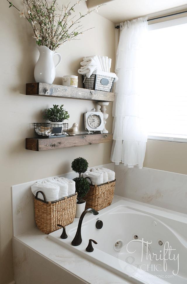 Earth Tone Re-purposed Wood Shelves