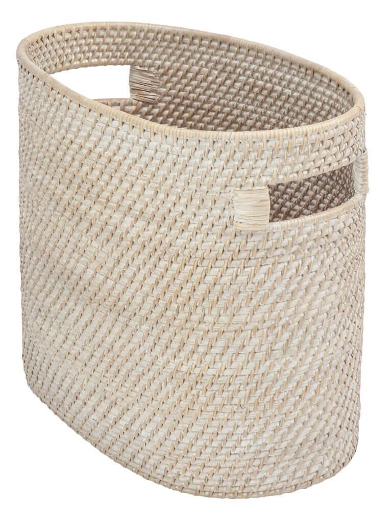 Oval Straw Magazine Basket