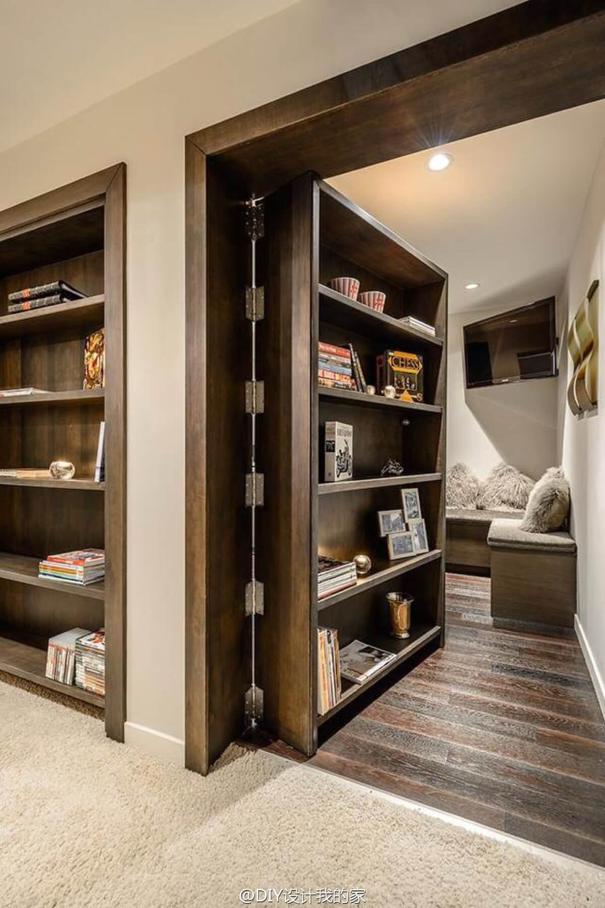 Secret Bookcase Doorway for Hidden Room