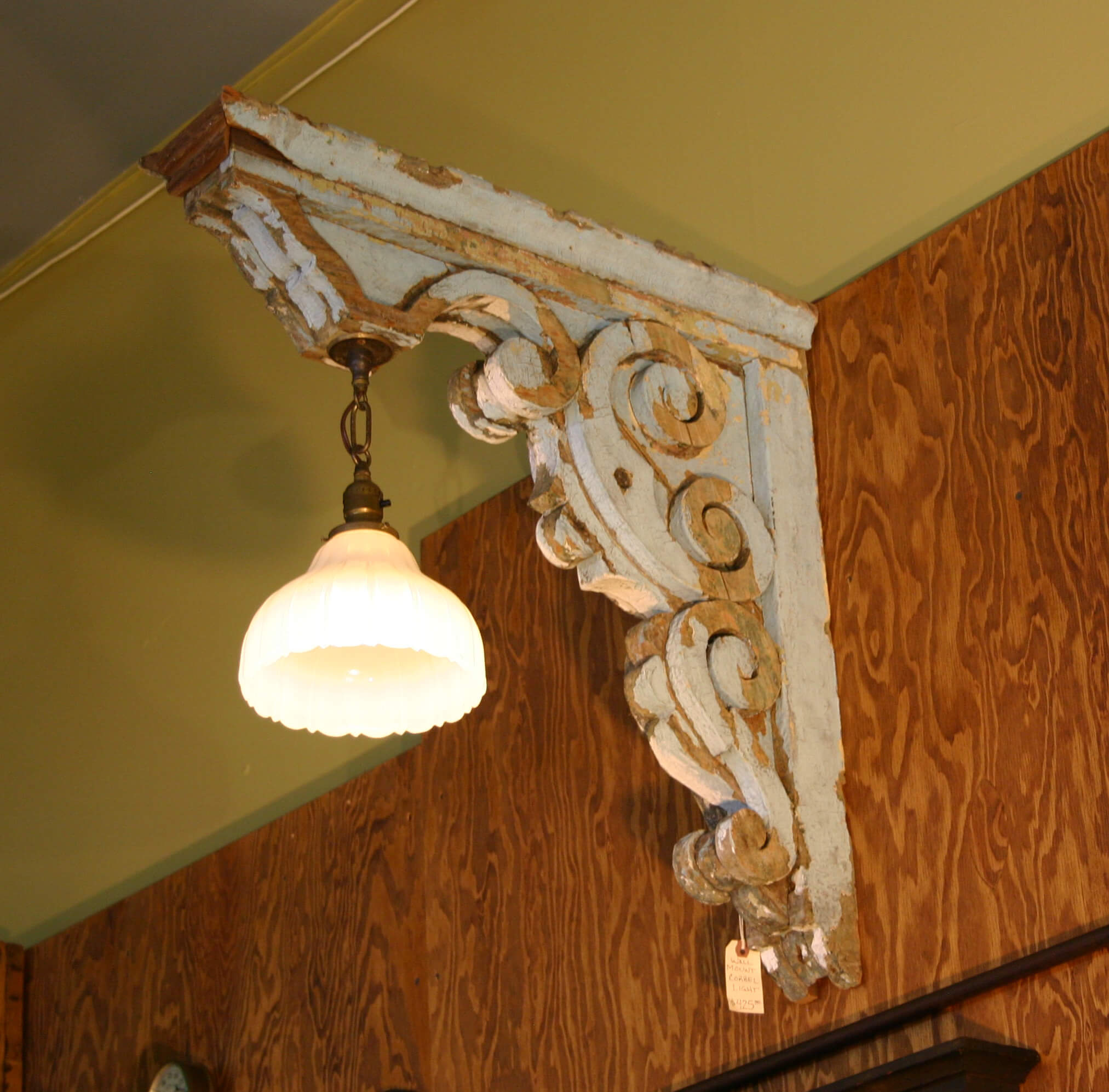 Scrolled Wood Light Fixture Concept