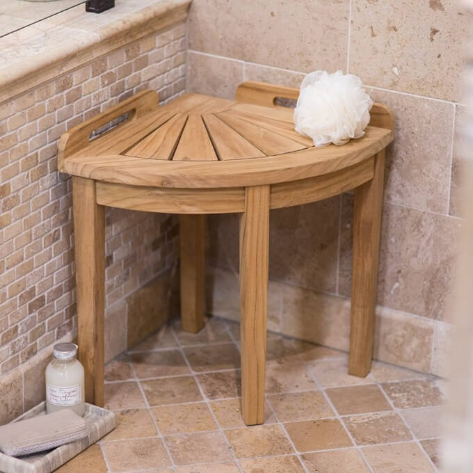 Convenient Bench for the Shower
