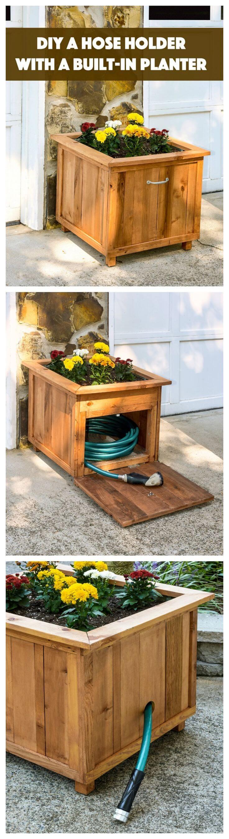 Gardener's Helper Planter Box & Hose Holder