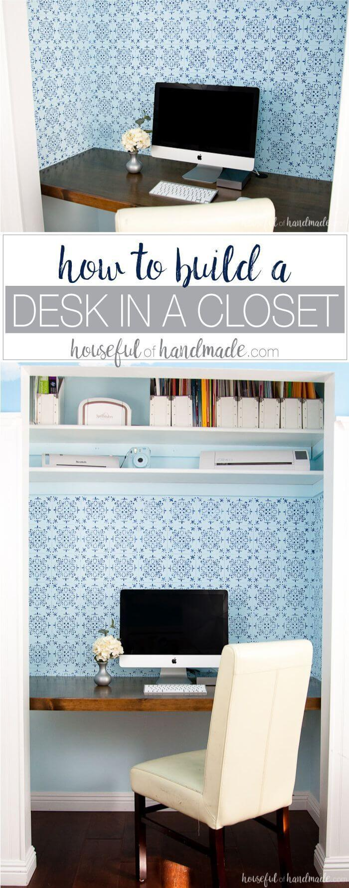 DIY Desk Ideas to Transform Closets