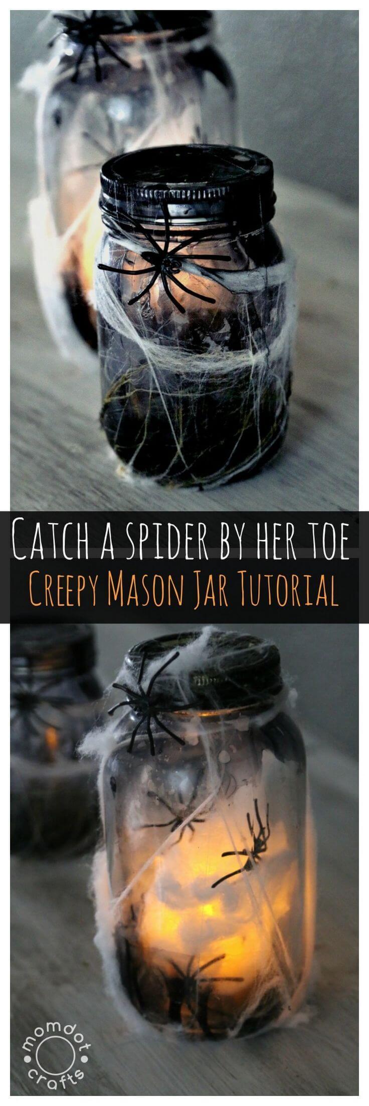 Super Scary Spider Web Luminaries