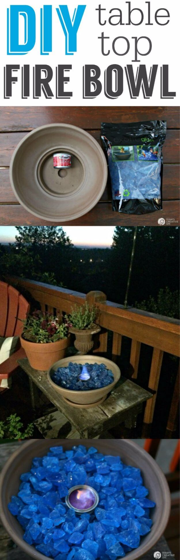 DIY Outdoor Lighting Idea for Fire Bowls