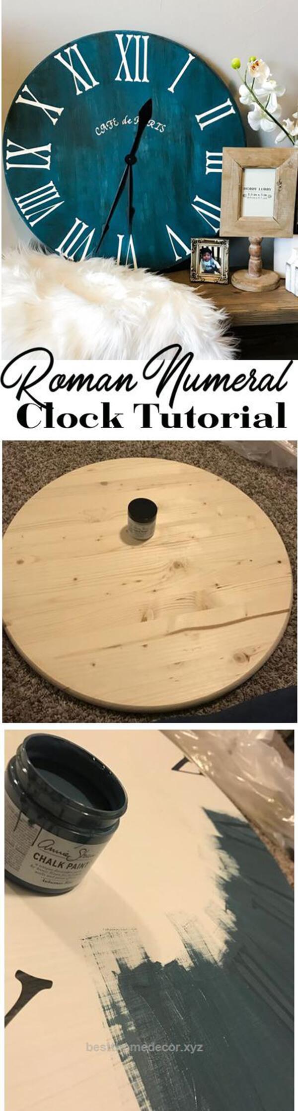 Shabby Chic Chalkboard Time Piece