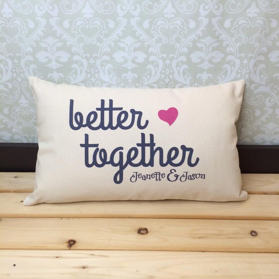 Customizable 'Better Together' Multipurpose Pillow