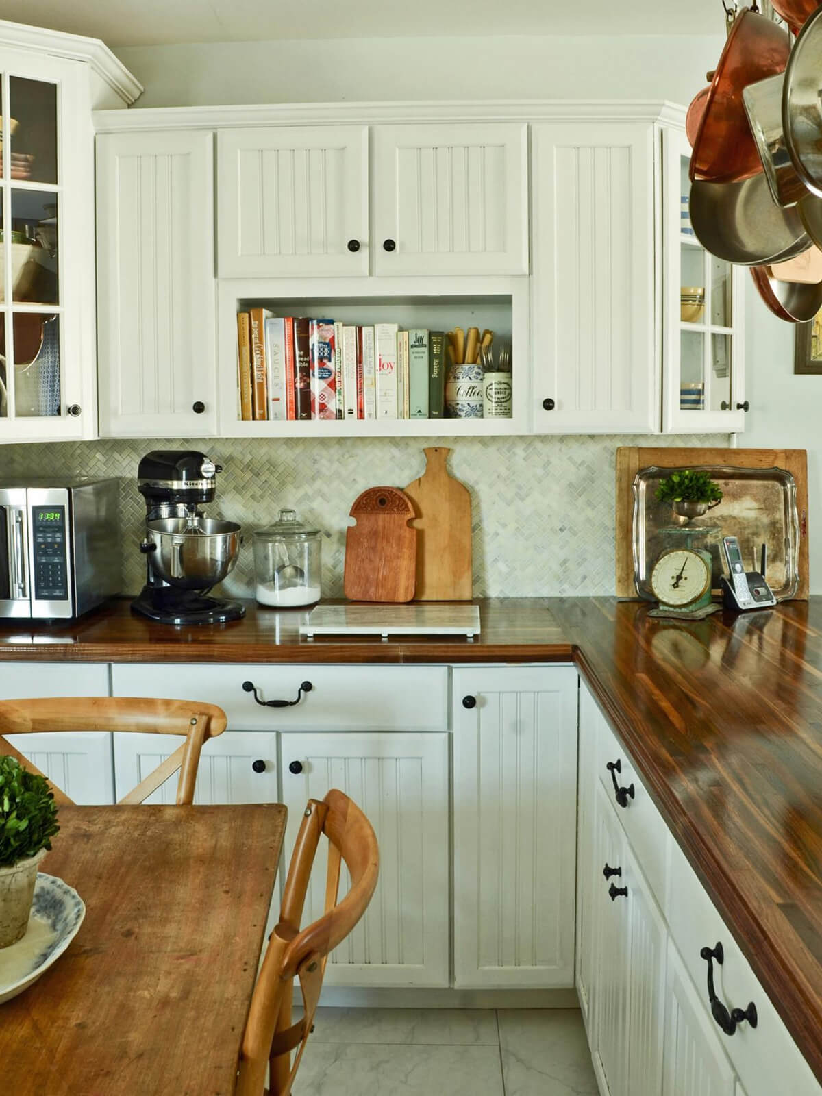 Paneled Cabinet with White and Black