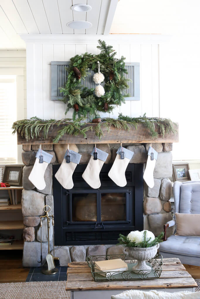 Cozy Cabin Inspired Holiday Setup