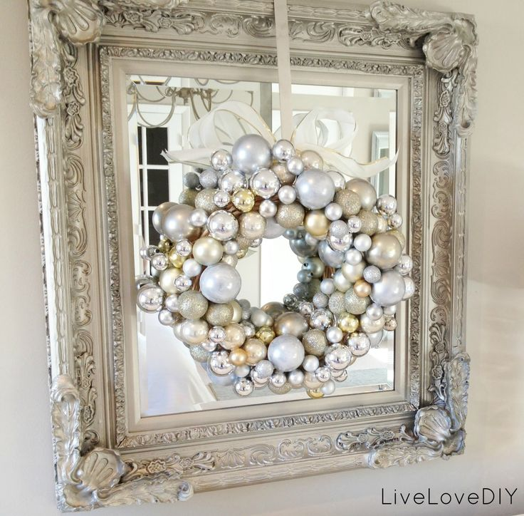 Handmade Christmas Ornament Wreath