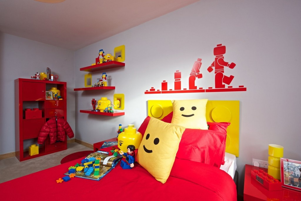 A Red And Yellow LEGO Lounge