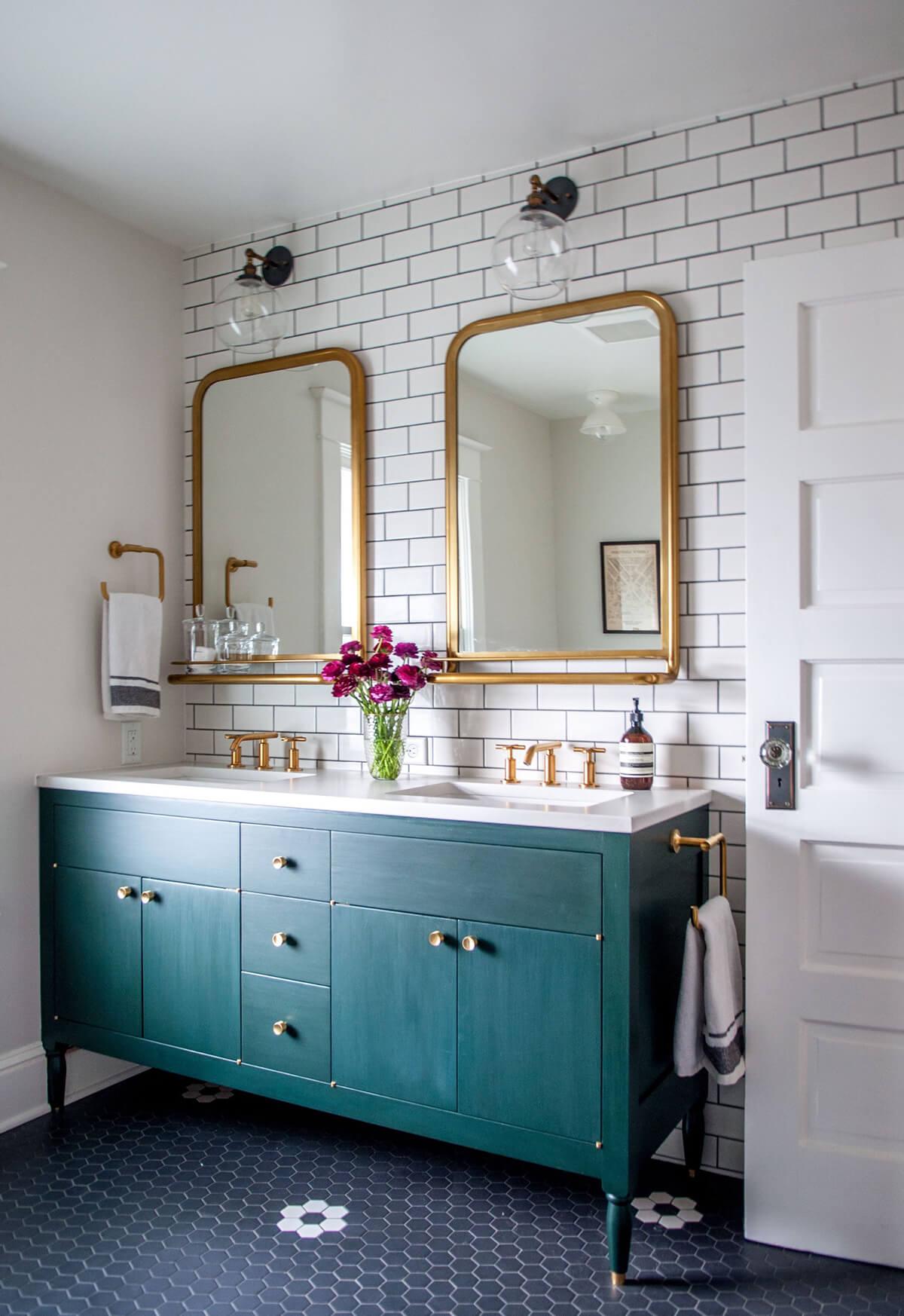 A Little Bit O' Glam Bathroom