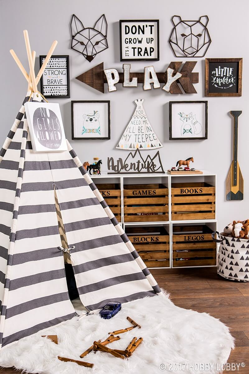 Outdoor Adventure Theme with Whimsical Wigwam Playhouse
