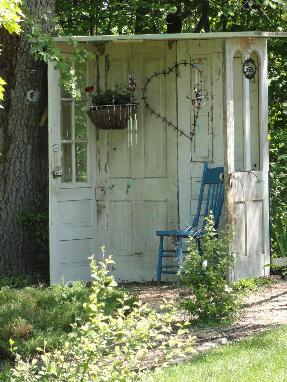 Use Repurposed Doors for a Garden Nook