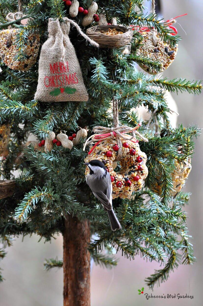 Natural Bird Seed Ornament Tree