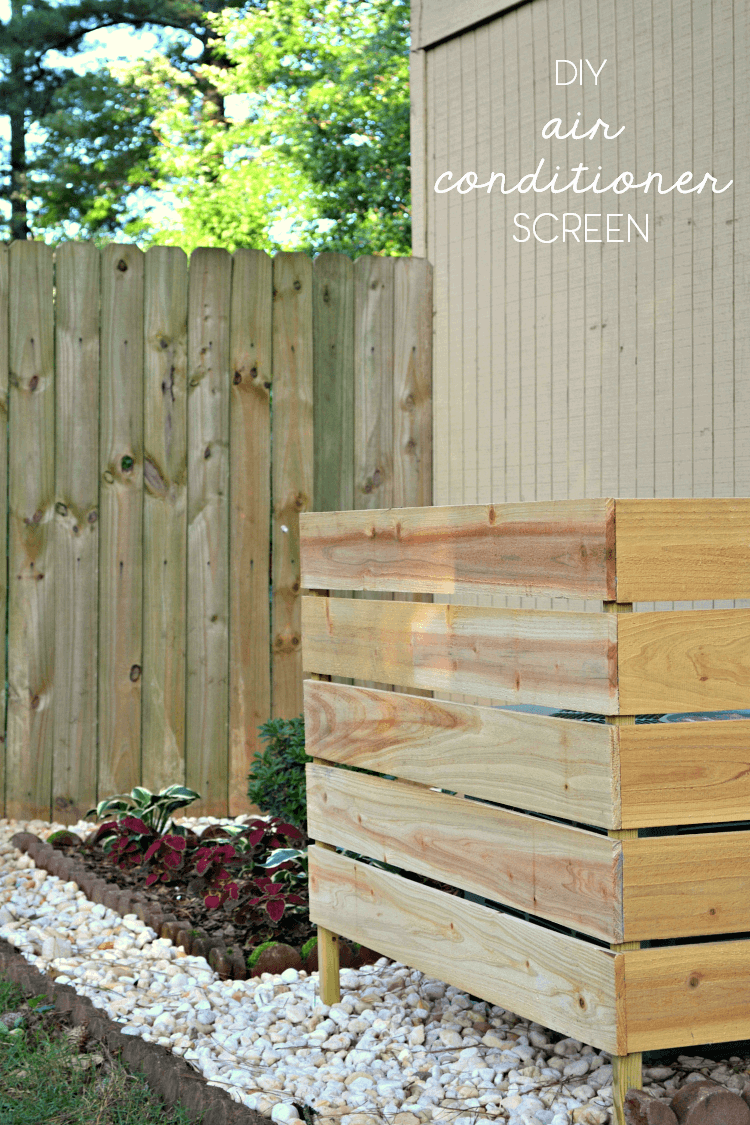 Wooden AC Screens are Easy DIY Projects