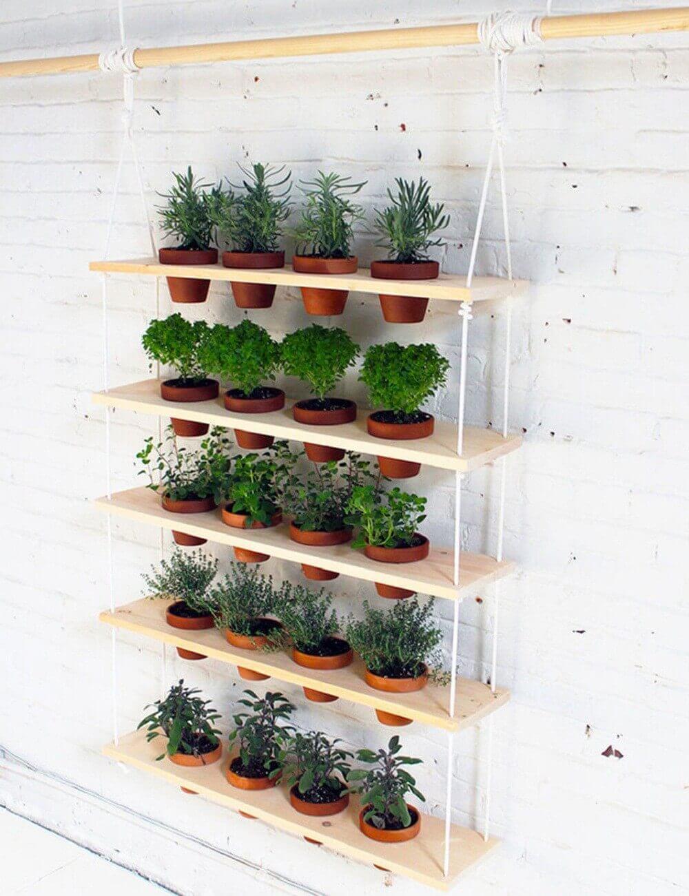 Easy to Make Hanging Herb Garden