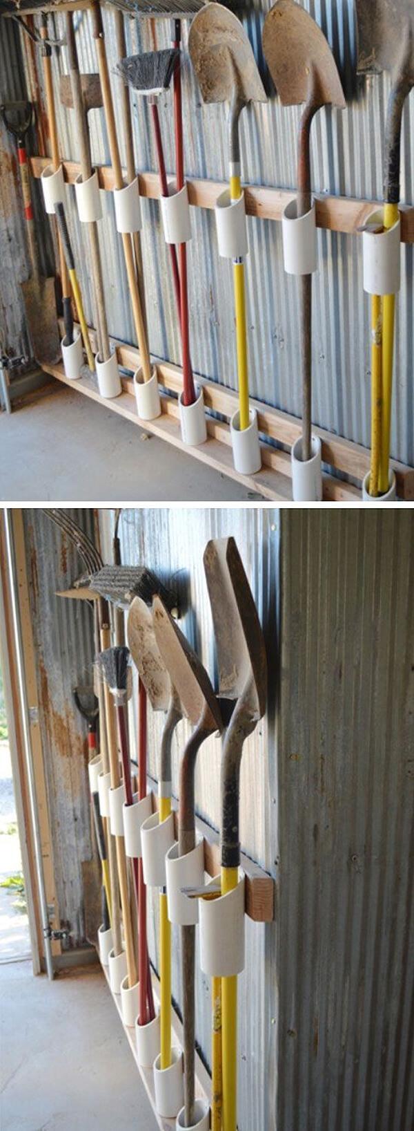 Tidy Garden Tools Garage Organizer
