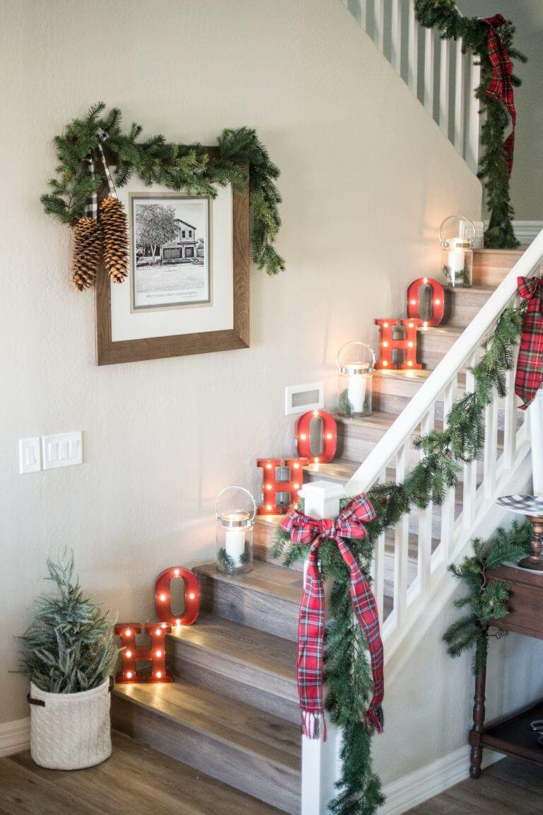 Retro Letter Light Stair Decorations
