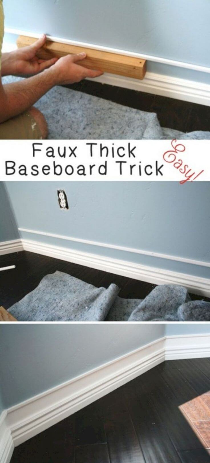 Easily Double Up Your Baseboard Trim