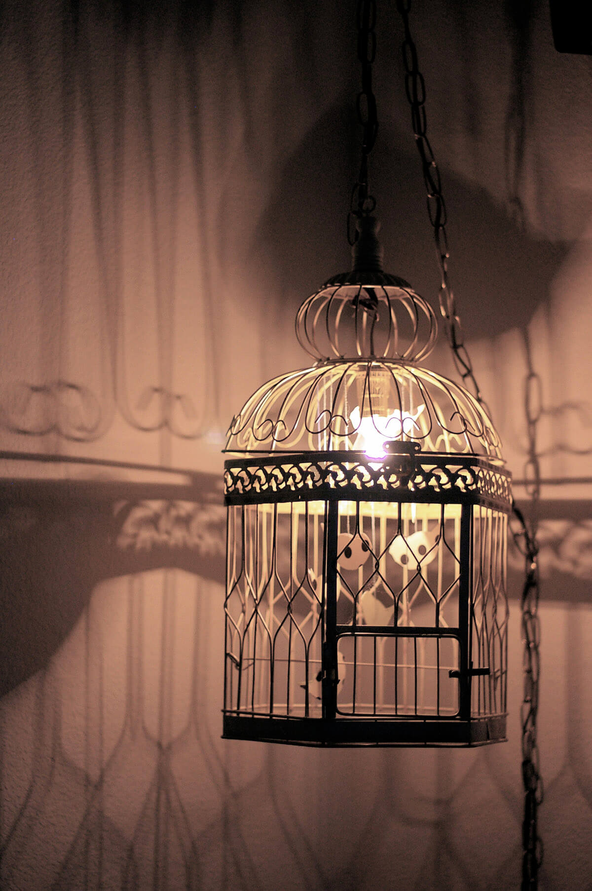 DIY Illuminated Birdcage Lantern